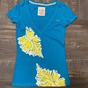 🌻3/20 HOLLISTER blue cute shirt